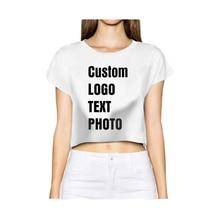 Индивидуальная женская летняя футболка Короткие топы с принтом