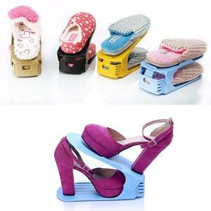 8pcs Durable Plastic Shoe Organizer Detached Double-Wide Shoe Storage Rack  Modern Double Cleaning Storage Shoes Rack c35ac1f0de14
