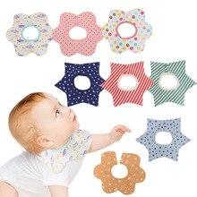 цена Reusable Washable Cotton PU Baby Bibs Burp Cloth Print Arrow Wave Triangle Baby Bibs Cotton Adjustable Baby Meal Bib Infant Bibs онлайн в 2017 году