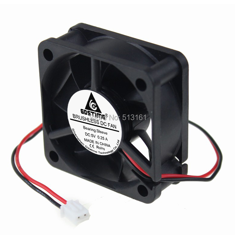 GDT 50x50x20mm 5V 2pin 5cm Brushless Computer Case 50mm DC Cooling Fan