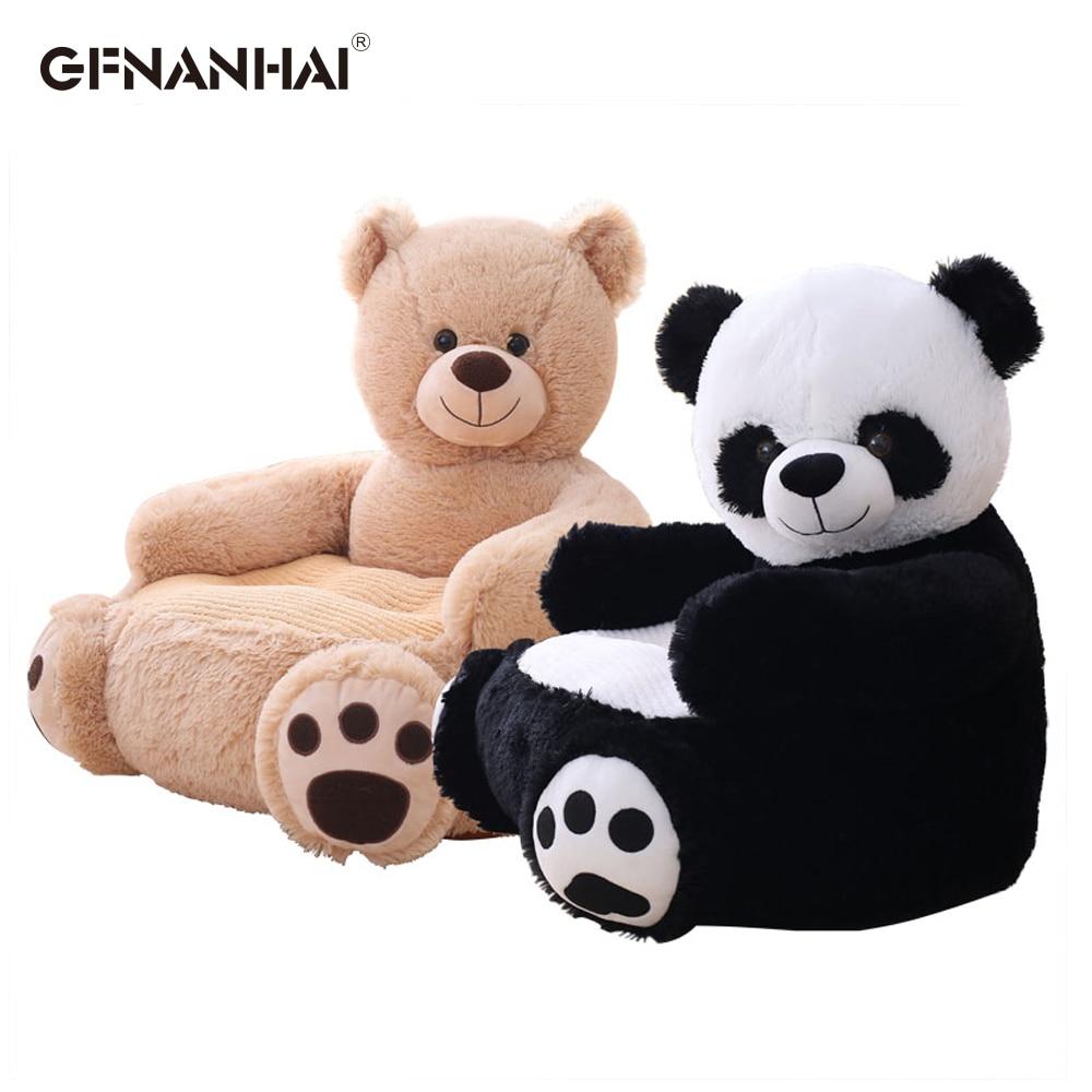1 pc 50*50*45 CM Mignon Panda Super Doux canapé pour bébé Chaise peluche de Bande Dessinée Ours en peluche Enfants Siège coussin en peluche Cadeaux D'anniversaire