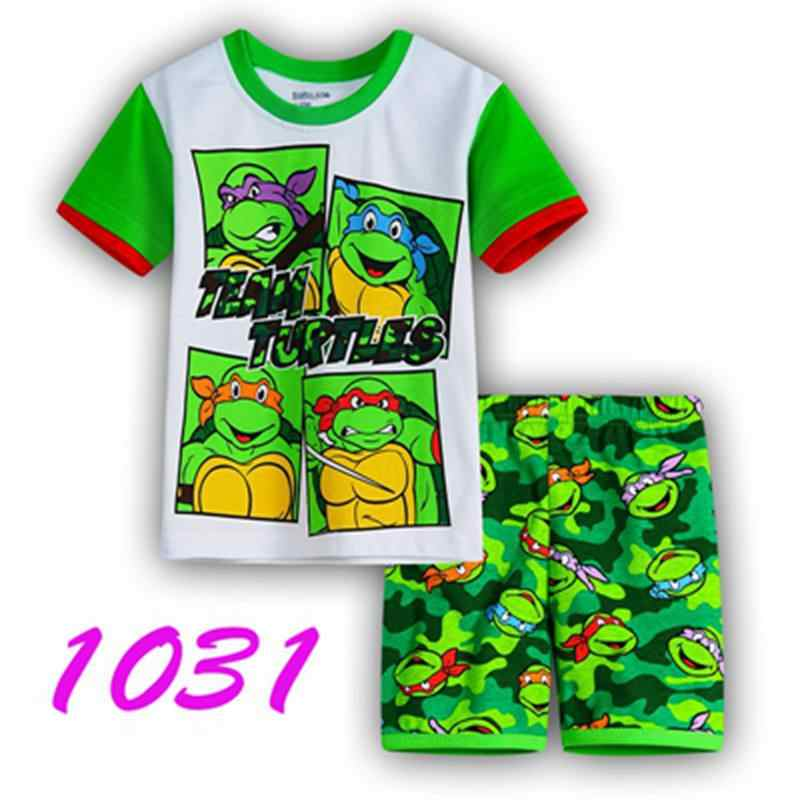 Hot Zomer kinderen Pyjama Jongens Pijamas Pakken Kids Shirts Tops Broek Pyjama Baby Kleding Thuis nachtjapon