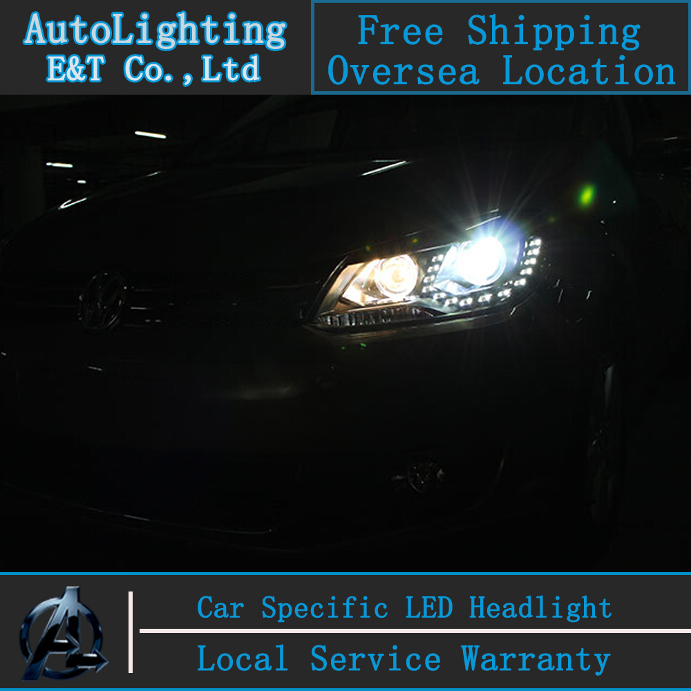 Car styling Head Lamp for VW Touran led headlights 2011-2014 Volkswagen Touran led drl H7 with hid kit 2pcs. car styling front lamps for vw for volkswagen beetle headlights with hid kit 2013 2015 year ld