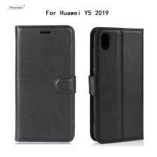 HUDOSSEN For Huawei Y5 2019 AMN-LX9 AMN-LX3 AMN-LX2 Case Flip PU Leather Back Cover Phone Accessories Bags AMN-LX1