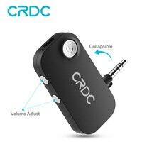 Bluetooth приемник CRDC 3,5 мм разъем музыка Bluetooth аудио беспроводной приемник адаптер автомобильный Aux с микрофоном для динамика наушников