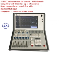 2 шт. Titan 11,1/10,1 система кварцевый консольный, DMX 512 контроллер упаковочный кофр для вечерние свадебные профессиональные световые шоу