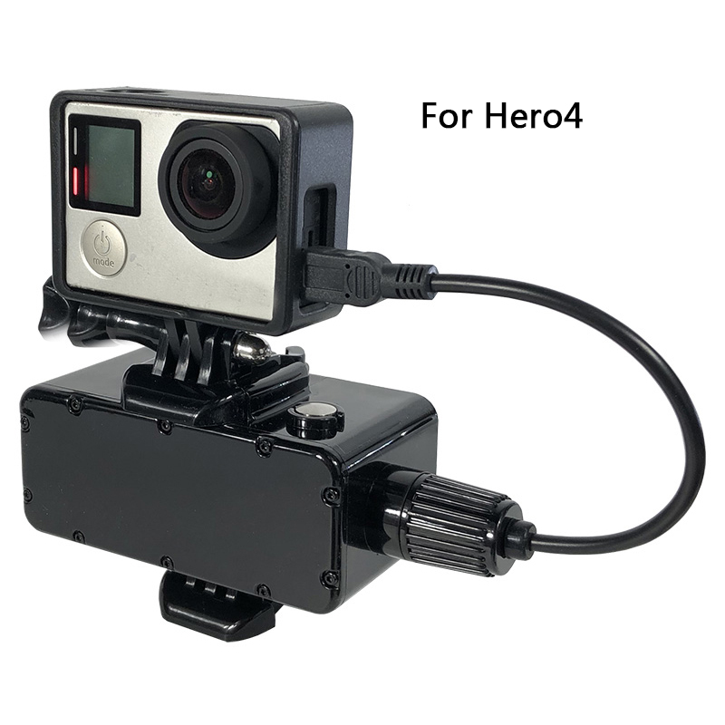 Image 3 - 5200mAh Power Bank 30M Waterproof External Battery Bank for GoPro Hero 7/6/5/4/3+/3 Xiaomi Yi 4K SJCAM Action Camera Accessories-in Sports Camcorder Cases from Consumer Electronics