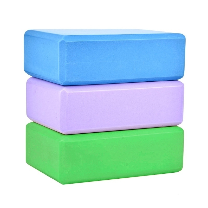 Yoga Block Props Foam Brick Stretching Aid Gym Pilates Yoga Block Exercise Fitness Sport 2pcs yoga eva foam roller block pilates massageroller brick yoga stretch belt strap fitness tool for body exercise gym fitness