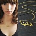 Пользовательские ожерелье, стерлингового серебра 925, позолоченные ожерелье, арабский ожерелье, персонализированные имя ожерелье ювелирных изделий