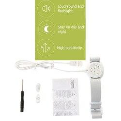Profesional brazo usar la Enuresis sensor de alarma para bebé niño adultos entrenamiento mojado recordatorio dormir Enuresis plaswekker