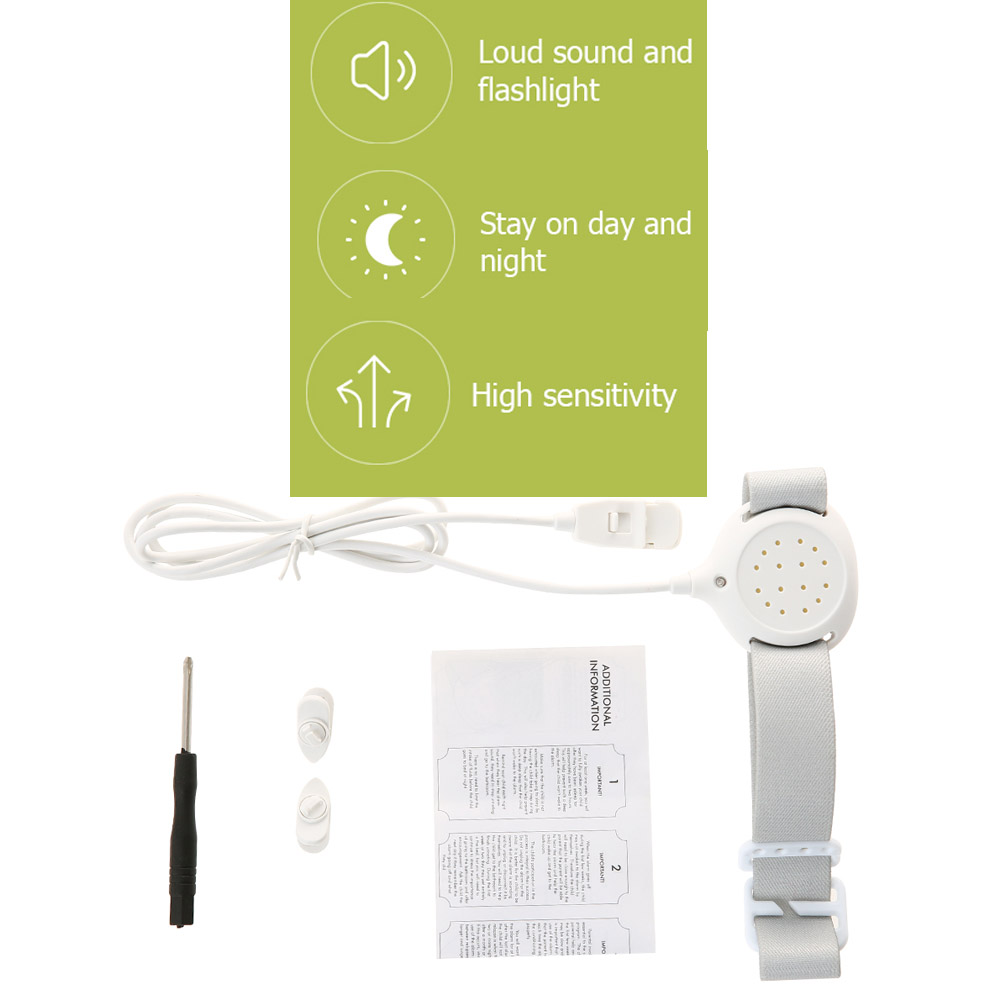 Professional Arm Wear Bedwetting sensor Alarm For Baby Toddler Adults Potty Training wet reminder Sleeping Enuresis plaswekker