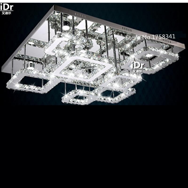 Modernen Minimalistischen Dimmen Led Deckenleuchte Wohnzimmer Lampe Kristall Rechteck Hotel Beleuchtung Hochwertigen Licht