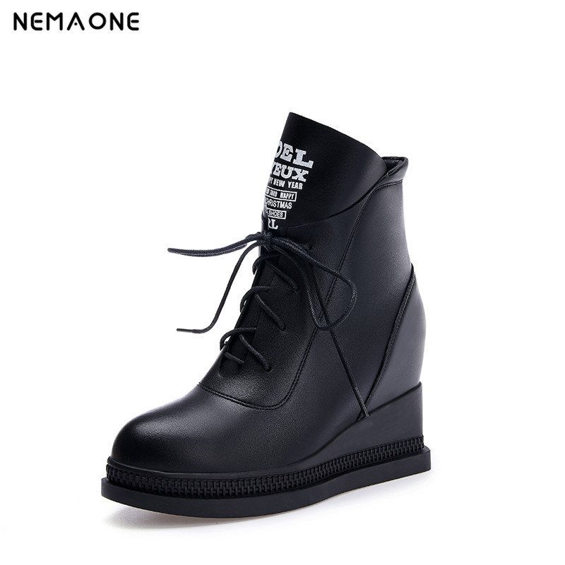 NEMAONE Free shipping ankle short natrual real genuine leather high heel boots women snow warm shoes EUR size 34-42 high waist swimsuit women bikinis 2016 floral push up bikini high waisted bathing suits vintage high waist swimwear swimsuit
