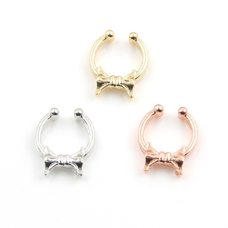 New design nose ring fake septum piercing nose rings and studs ...