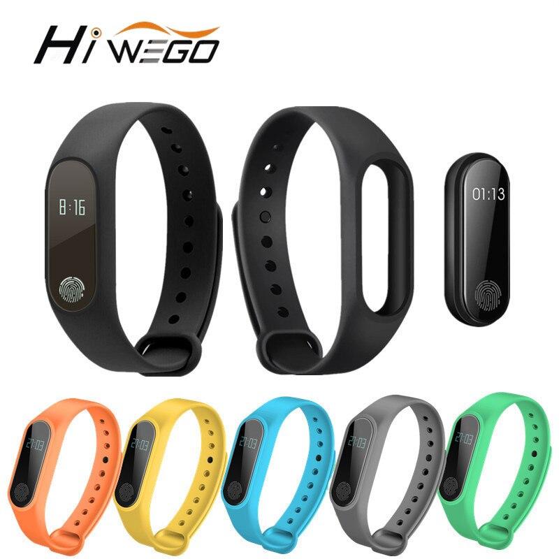 Hiwego Intelligente Wristband M2 Braccialetto Intelligente Monitor di Frequenza Cardiaca Pedometro Impermeabile Bluetooth Per iOS Android Per Le Donne Degli Uomini