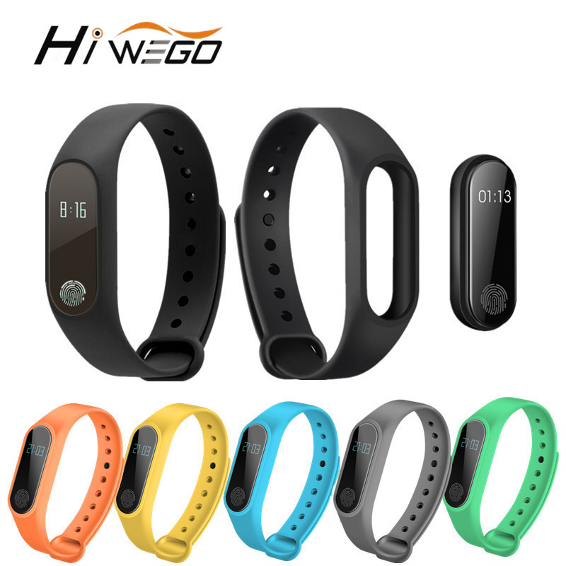 Hiwego Smart Wristband M2 Smart Bracelet Heart Rate Monitor Pedometer Waterproof Bluetooth For iOS Android For Men Women