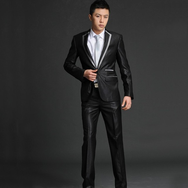 New men\'s wedding suits Men\'s Slim thin section groom dress men\