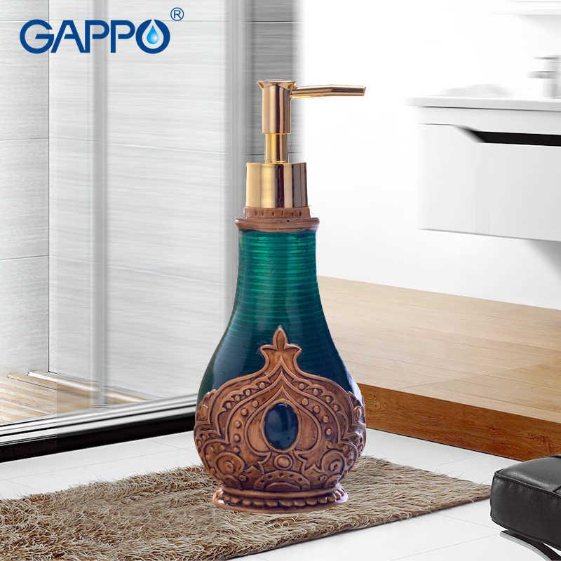 GAPPO dozowniki mydła w płynie żywica mydło łazienka pompa importowana żywica butelka wanna akcesoria łazienkowe dozowniki mydła