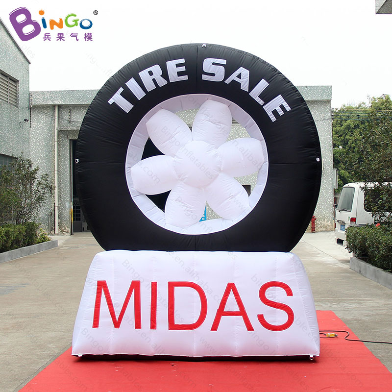 Personalized 2.3X1.3X3 M giant inflatable tyre model for advertising, blow up used car tyre for sale- toyPersonalized 2.3X1.3X3 M giant inflatable tyre model for advertising, blow up used car tyre for sale- toy