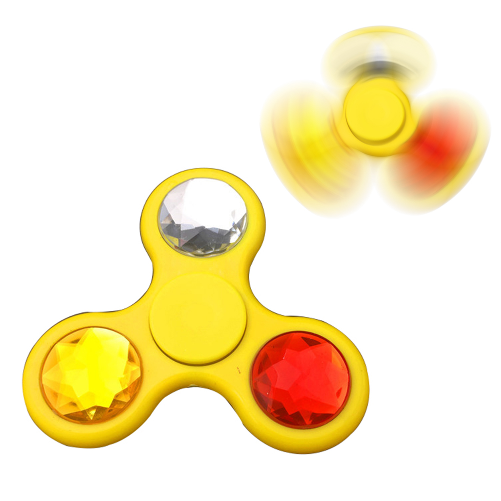 Big Rhinestone EDC Fidget Hand Spinner ADHD Focus Anxiety Relief Toy Gift