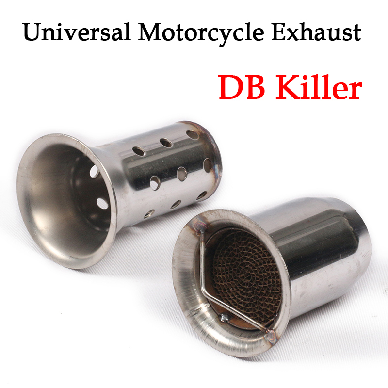 60mm Stainless Steel Universal Motorcycle Exhaust Muffler DB Killer Silencer Noise Sound For YAMAHA HONDA Yoshimura in Exhaust Exhaust Systems from Automobiles Motorcycles