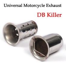 60mm Stainless Steel Universal Motorcycle Exhaust Muffler DB Killer Silencer Noise Sound For YAMAHA HONDA Yoshimura 51mm universal motorcycle exhaust middle pipe muffler db killer silencer for honda cbr500 500r 500x 2012 2015 stainless steel