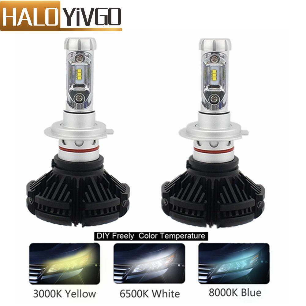 Светодиодные Автомобильные фары H7 светодиодные лампы 50 Вт 6000LM CSP чип для автомобильных светодиодных фар Противотуманные фары автомобильны