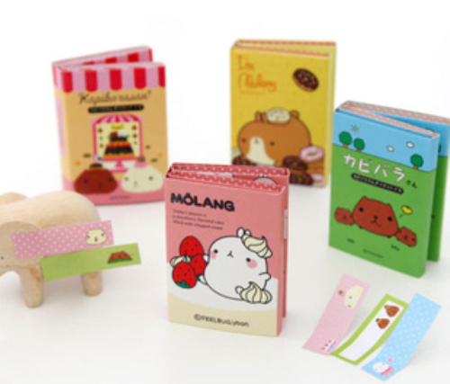 MQStyle 2019 New Kawaii Molang Rabbit Memo Notepad Note Book Memo Pad Sticky Notes Memo Set Gift Stationery H0042