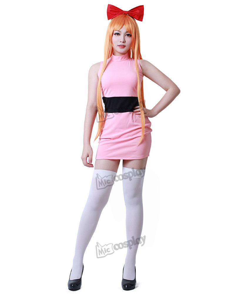 Powerpuff Girls Cosplay Blossom Bubbles Buttercup Adults Cosplay Costume Dress