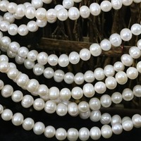 High Quality White Natural Freshwater Cultured Pearl Loose Beads 7 8mm Approx Round Diy Elegant Jewelry