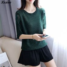 Xnxee new spring slim cotton Crewneck sweater sleeve head butterfly lace shirt F1818