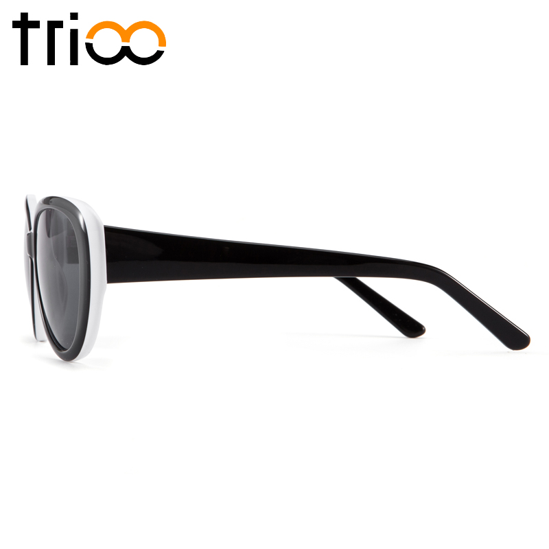 a416e4d2f2 TRIOO Oval Shortsighted Prescription Sun Glasses Women Black UV Block  Spring Hinge Eyewear Female Driving Diopter Sunglasses-in Prescription  Glasses from ...