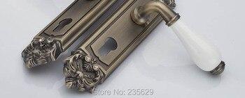 Doubles Portes Intérieures   Livraison Gratuite, Serrure à Mortaise à Double Boulons, Serrure De Porte à Poignée Extérieure Et Intérieure De Style Européen, Serrure Finie En Laiton Antique Pour Portes