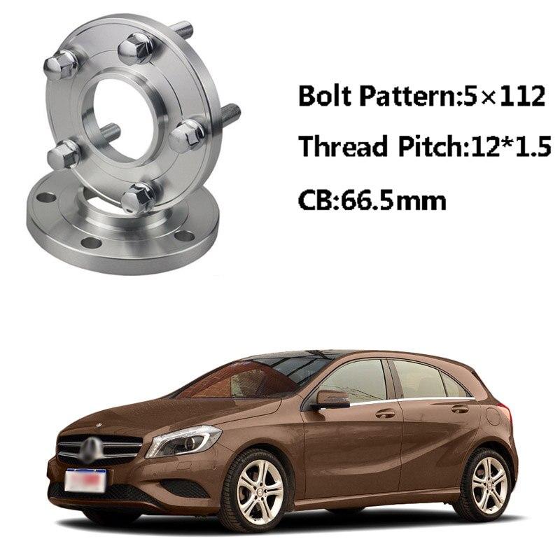 2 pc 5x112 66.5CB moyeux d'espacement de roue centraux M12 * 1.5 boulons pour Benz A classe W168 SLK R170/171 E classe W210 W214 C classe W203
