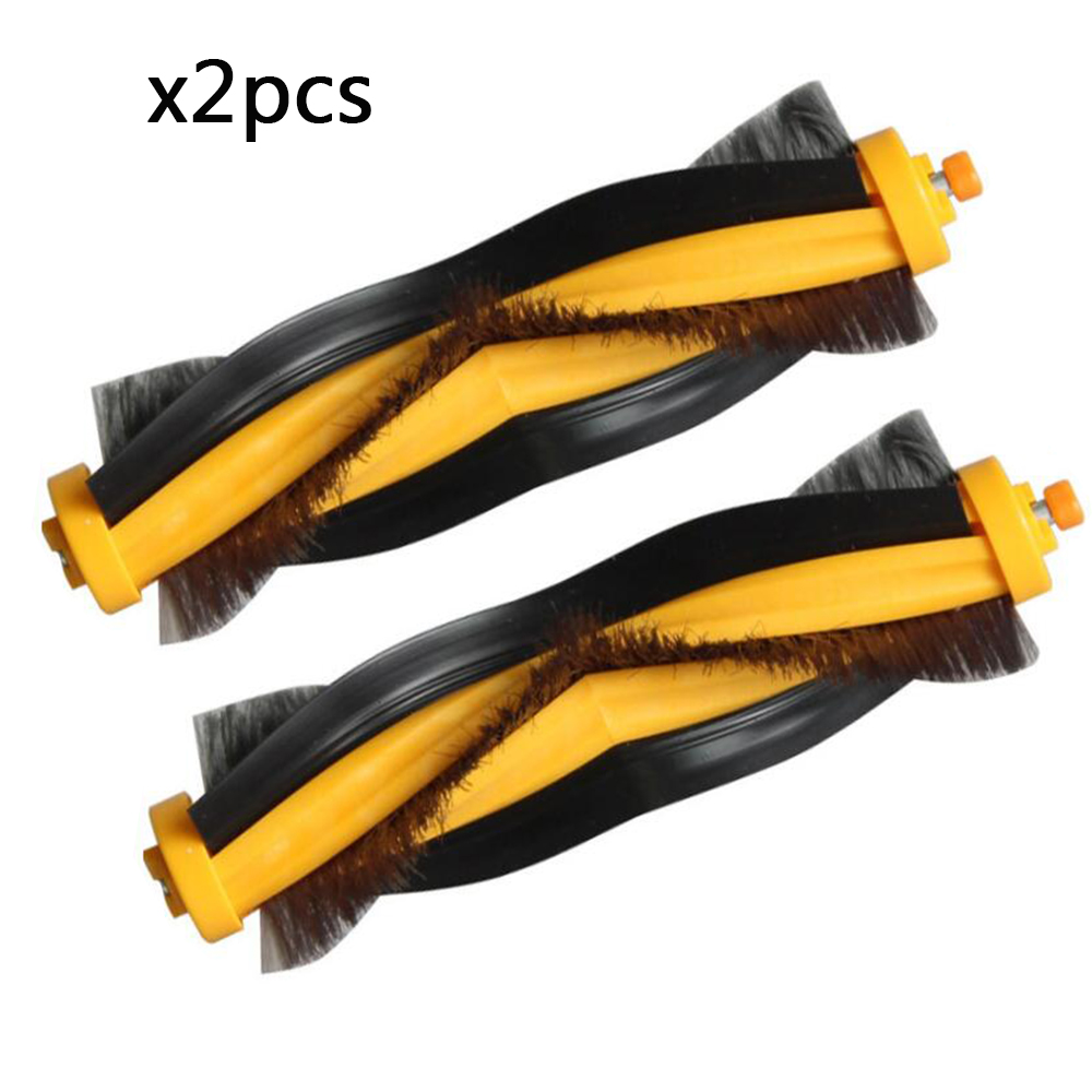 2pcs Main Brush for ECOVACS <font><b>DEEBOT</b></font> <font><b>M80</b></font> <font><b>Pro</b></font> M81 M85 M88 R95 R96 R98 Robotic Vacuum Cleaner Spare Parts Replacement Main Burshes image