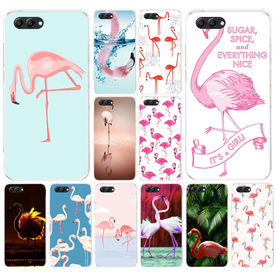 105FG Cute Summer Tropical Soft <font><b>Silicone</b></font> Tpu Cover <font><b>Case</b></font> for Honor 9 10 <font><b>huawei</b></font> p10 lite <font><b>y6</b></font> prime <font><b>2018</b></font> mate 10 lite play p smart image