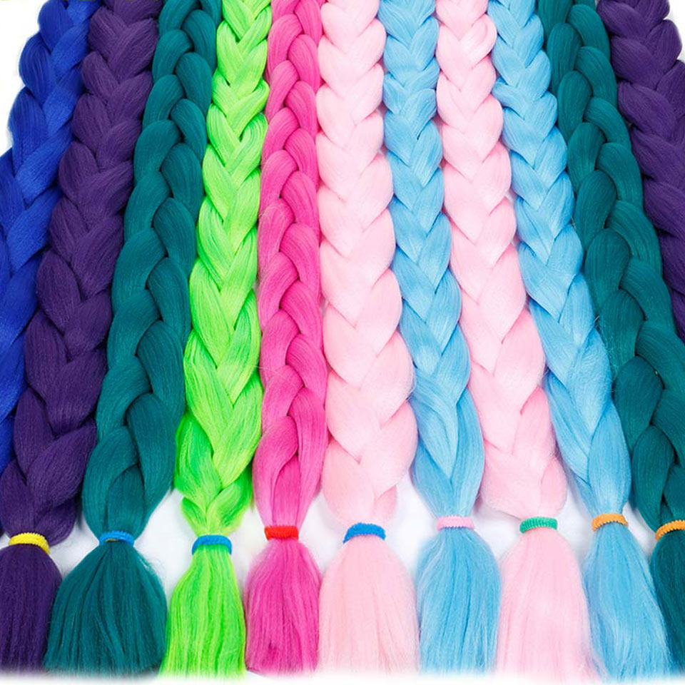 HiDoLA Synthetic Braiding Hair Extensions Hair Twist Braiding Hair High Temperature Hair Extensions 165g Pc 82Inch in Women 39 s Hair Accessories from Apparel Accessories