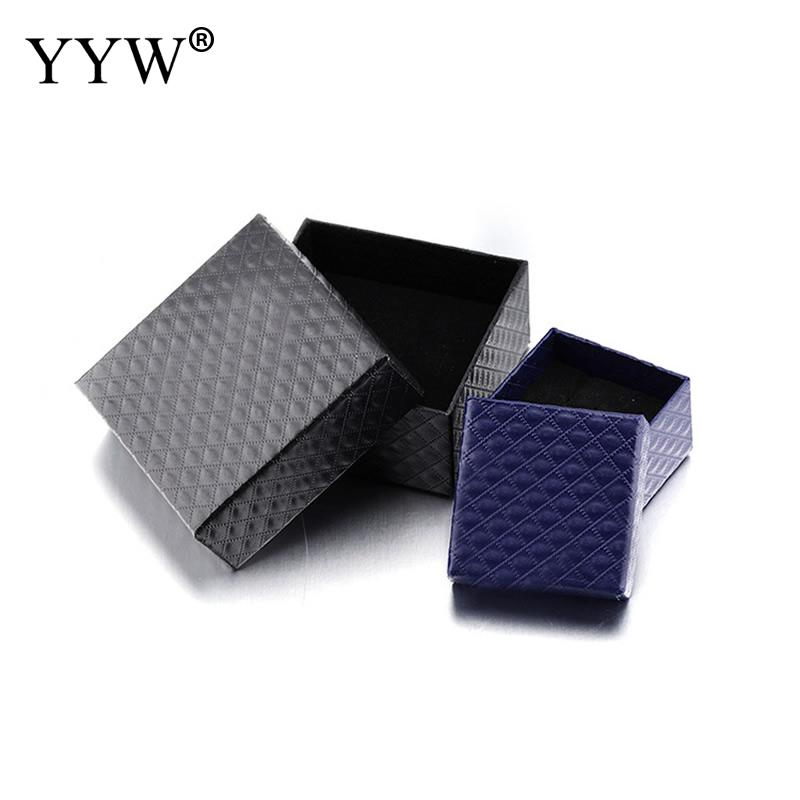 2017 Elegant Fashion Paper Jewelry Box Charm Bracelet Ring Box Jewelry Gift Boxes Cases Display Square Package Boxes
