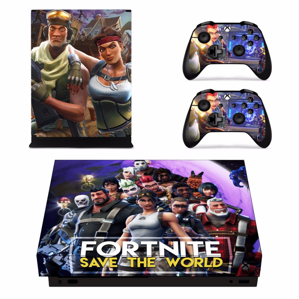 Juego Fortnite Skin Sticker Decal Para Microsoft Xbox One X Consola