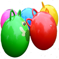 18 Inch Double Ear Bouncing Ball Toys High Quality Inflatable Cartoon Jumping Ball Bounce Stress Ball