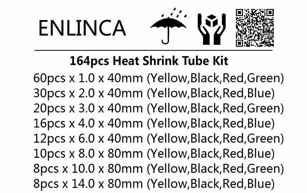 164pcs heat shrink tube