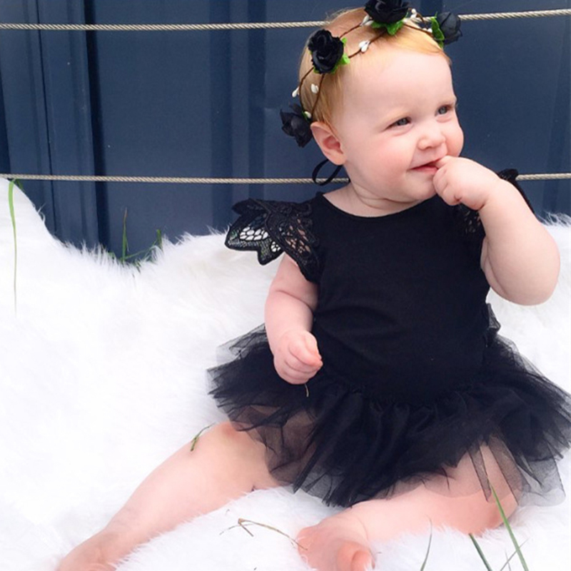 Summer Born 0-24M Kids Baby Girl Infant Lace   Romper   Jumpsuit Tutu Dress Clothes Outfits New