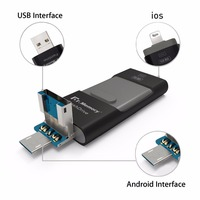אני-כונן פלאש לאייפון 7 בתוספת אפל 6 s Pen Drive 16 גרם 32 גרם 64 גרם andorid OTG U דיסק Pendrive עבור סוני huawei 3 ב 1 usb flash drive