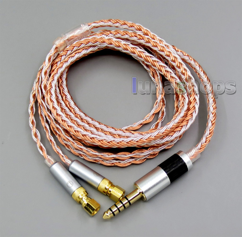 4.4mm Balanced 16 Cores OCC Silver Mixed Headphone Cable For HiFiMan HE400 HE5 HE6 HE300 HE560 HE4 HE500 HE6 LN005796 купить в Москве 2019