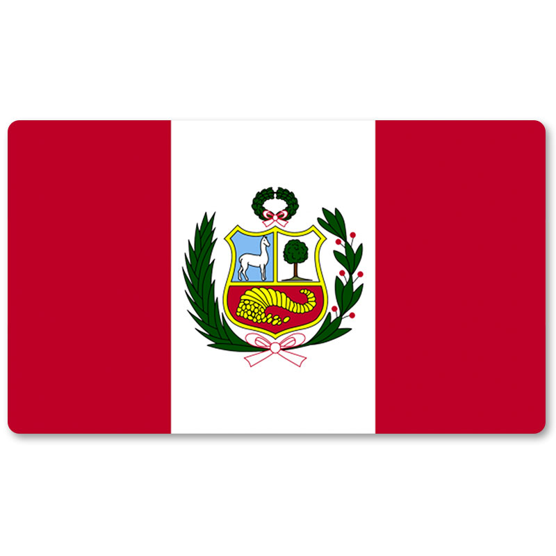 Active Country Flag Playmats - Peru - Board Game Mat Table Mat Mouse Mat Mouse Pad 60 X 35cm Agreeable To Taste