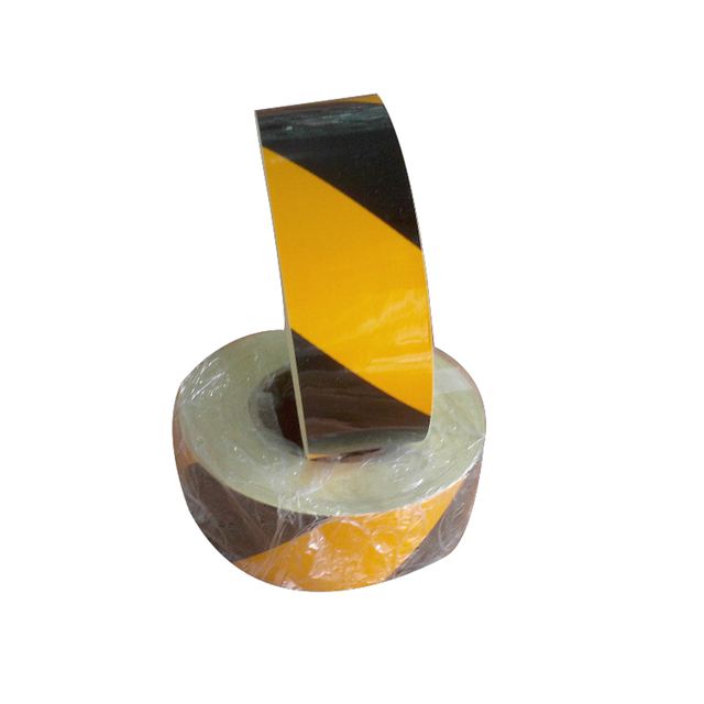 (10 Roll/LOT) Wholesale 45M*5cm yellow/black Reflective Warning Tape Adhesive Conspicuity Tape