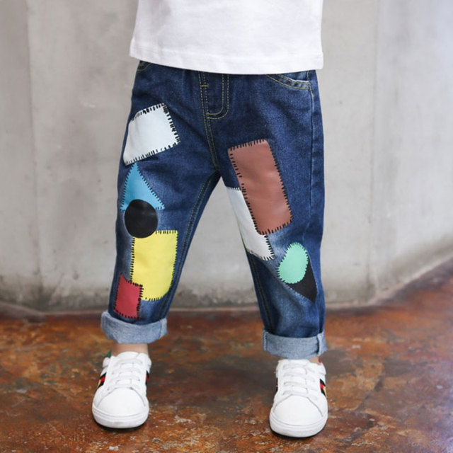 fcb4a5cd6 Little boy baby jeans spring fall fashion outdoor trousers children ...
