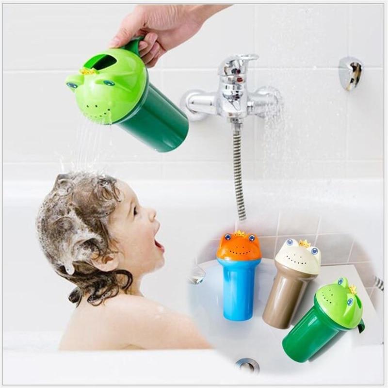 Cartoon frog Baby Bath Caps Baby Shampoo Cup Children Bathin