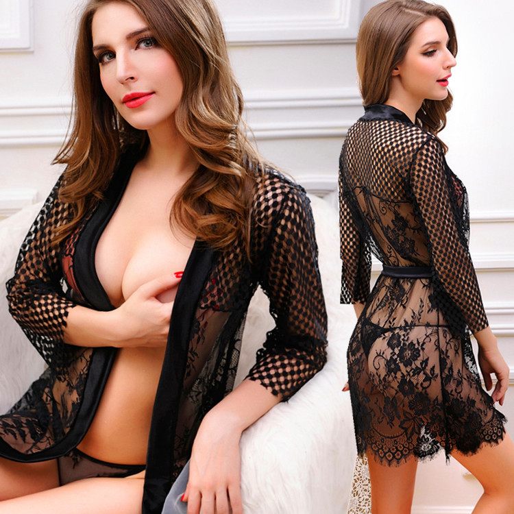 New Sexy Underwear Women Sexy Lingerie Ladies Lace Transparent Conjoined Dress Suit Erotic New Design Hot Free Shipping