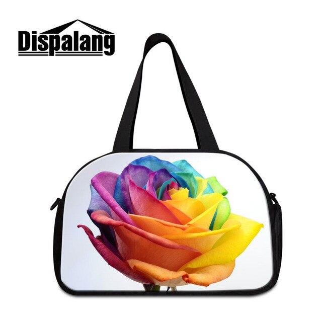 e2801208051d4a Dispalang Rose Travel Luggage Bag Women Flower Print Sport Bag Girls  Training Gym Bag Ladies Fitness Bags Female Yoga Duffel Bag